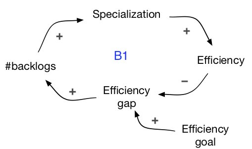 efficiency thinking CLD