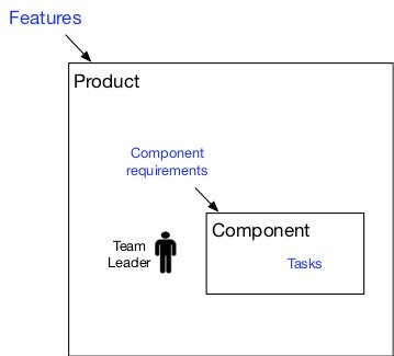 organization with component team